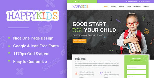 HappyKids - Primary School For Children PSD