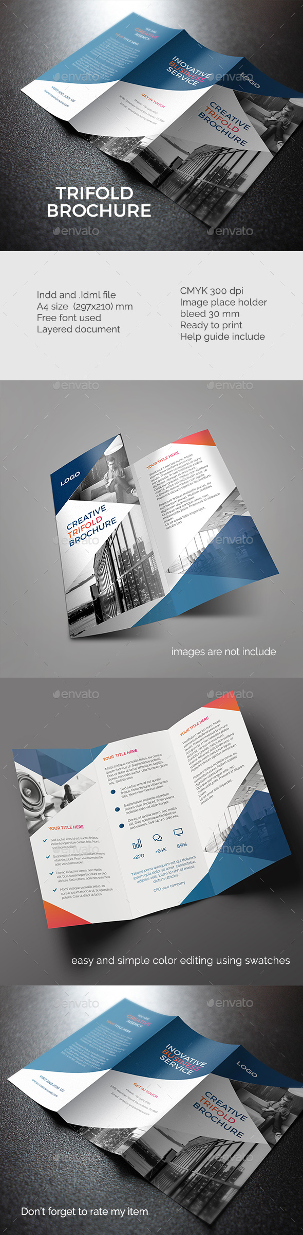 Modern trifold brochures  - Corporate Brochures