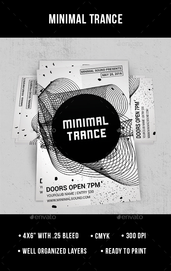 Minimal Trance - Flyer - Clubs & Parties Events