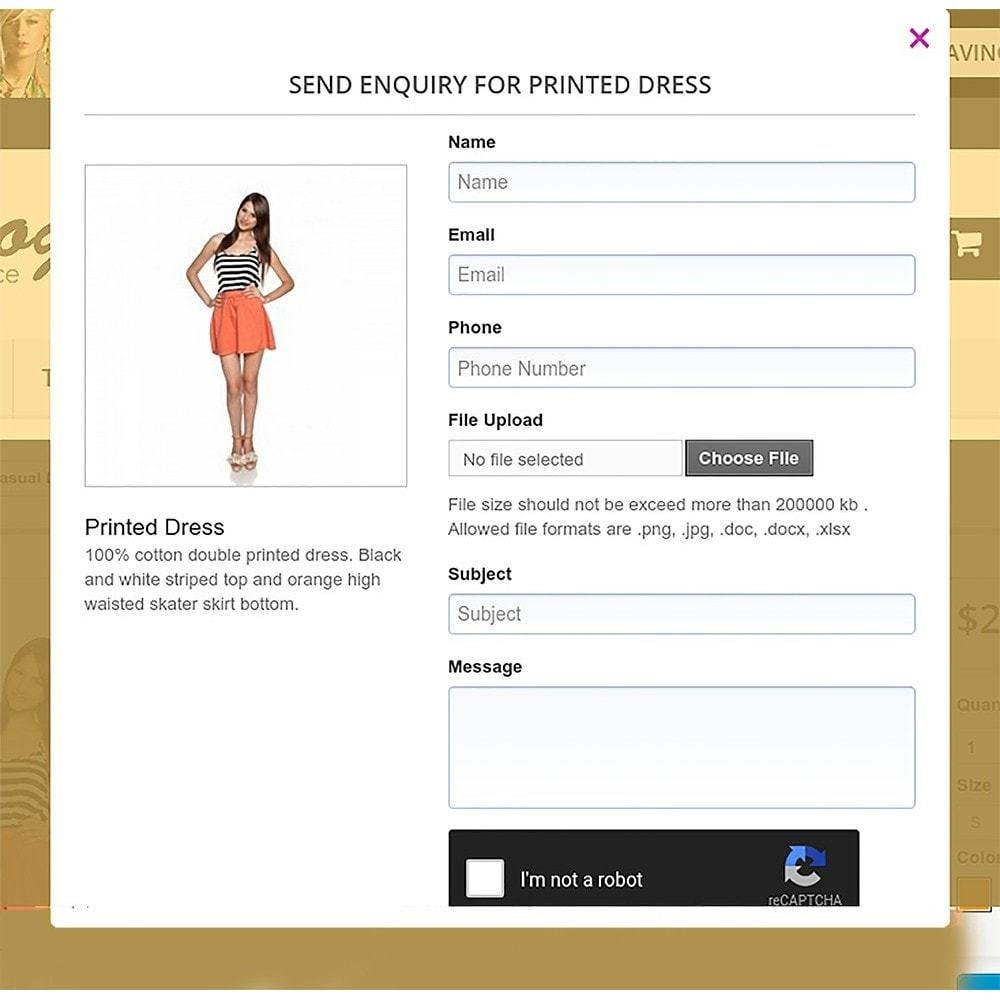 prestashop product enquiry form by magnigenie codecanyon