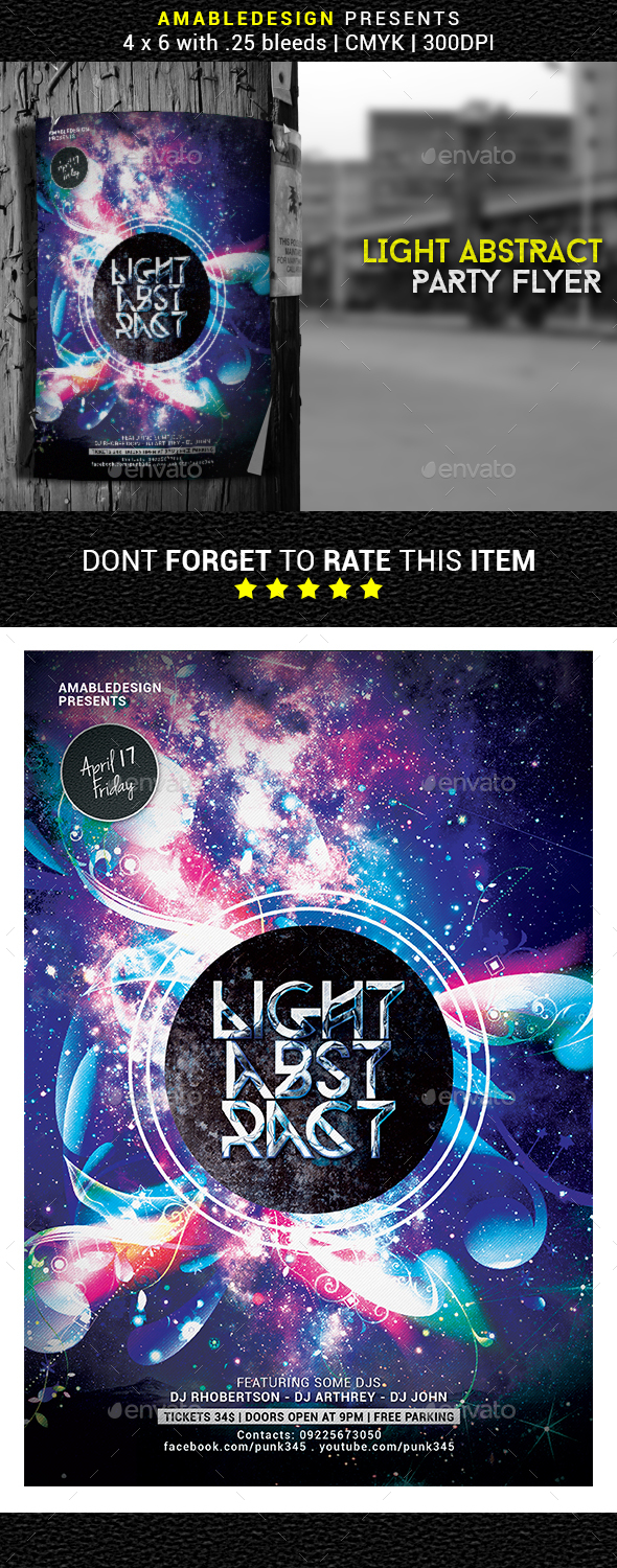 Light Abstract Flyer/Poster - Clubs & Parties Events
