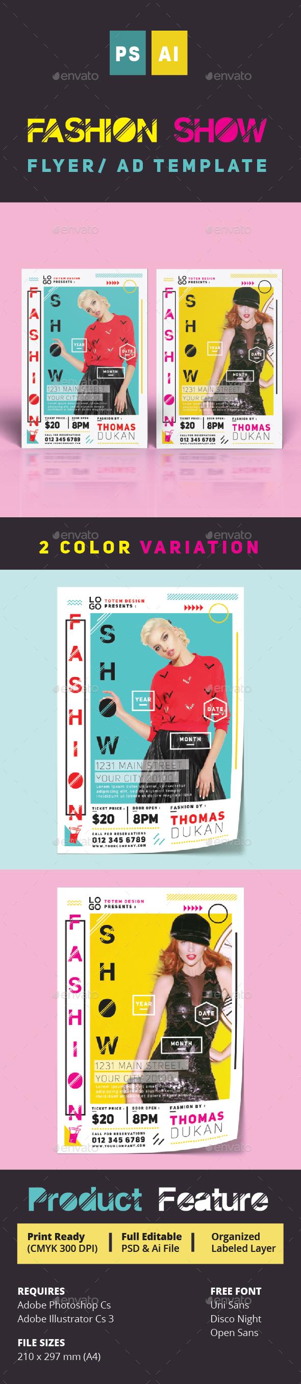 Fashion Show Flyer  - Print Templates