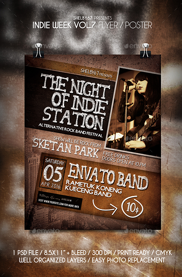 Indie Week Flyer / Poster Vol 7 - Events Flyers