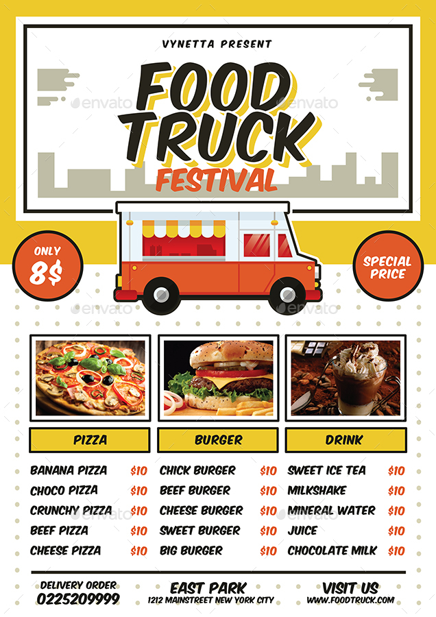 Hot Dog Food Truck Menu