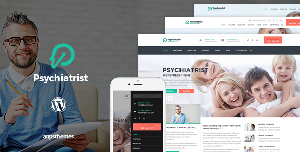 Psychiatrist - WordPress Theme - Health & Beauty Retail