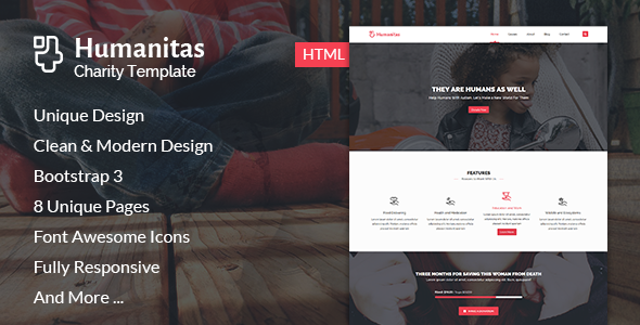 Humanitas – Modern Charity HTML Template
