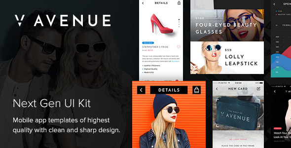 V Avenue Mobile UI Kit - Sketch Templates