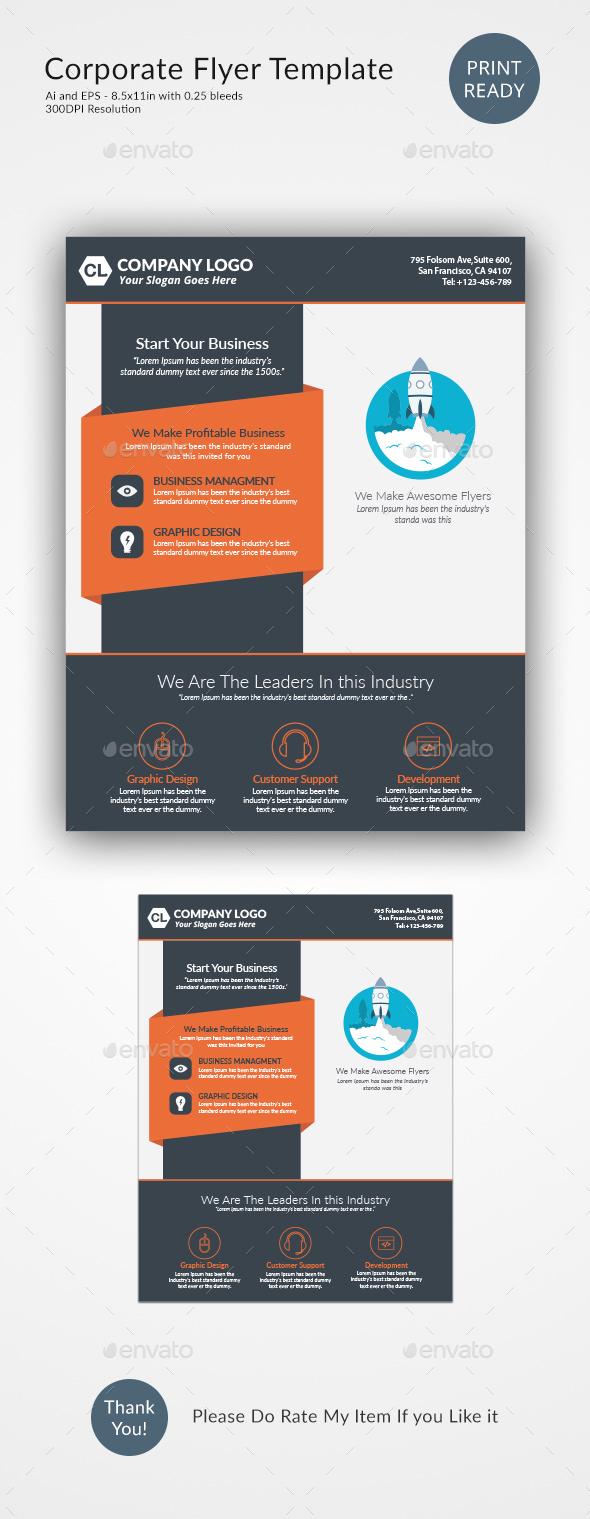 Corporate Flyer Design Template - Corporate Flyers