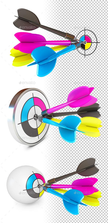 CMYK Conceptual illustration - Objects 3D Renders