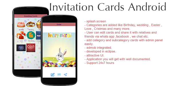 Invitation cards android application admin panel admob by codeagent invitation cards android application admin panel admob codecanyon item for sale stopboris Choice Image