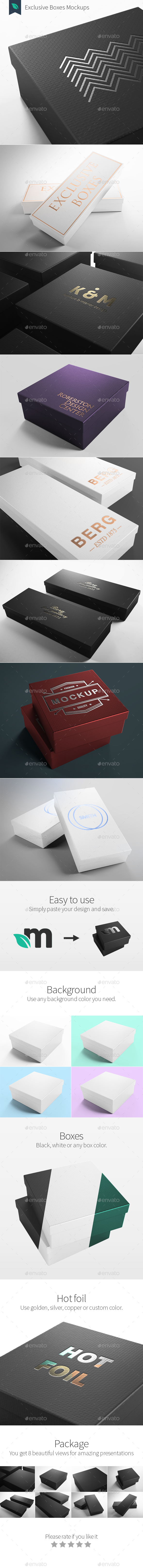 Exclusive Boxes Mockups - Packaging Product Mock-Ups