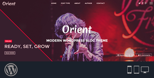 Orient – Modern WordPress Blog Theme