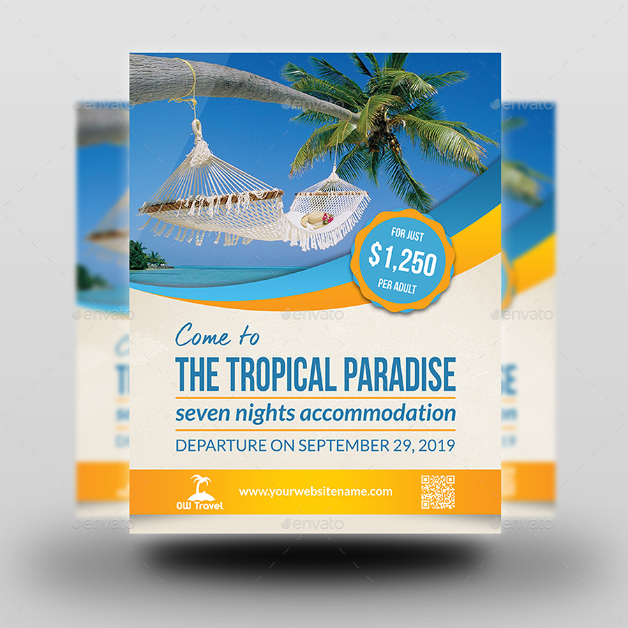 Tour And Travel Flyer Template By OWPictures GraphicRiver - Tourism flyer template