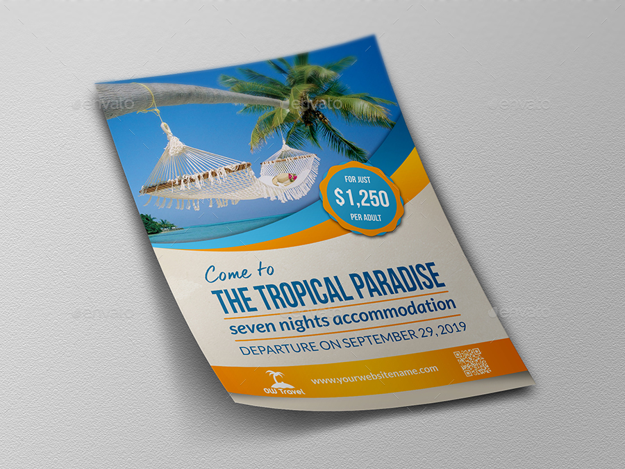 Tour And Travel Flyer Template By Owpictures Graphicriver