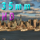 New York From New Jersey SIde With Puffy Clouds - VideoHive Item for Sale