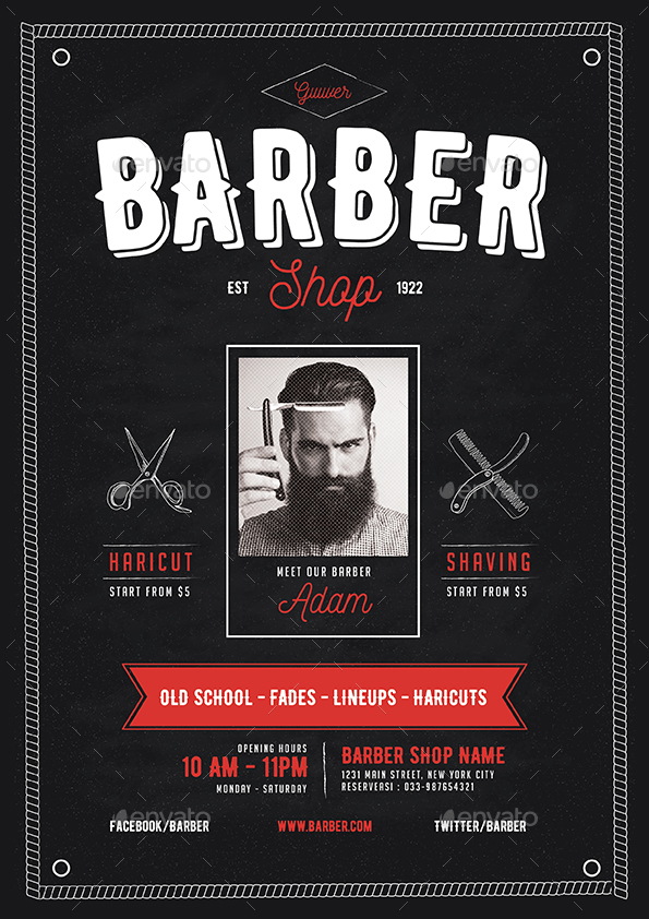 Barber Shop Flyer By Guuver