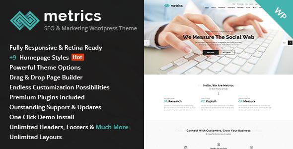 Metrics - SEO, Digital Marketing, Social Media Theme