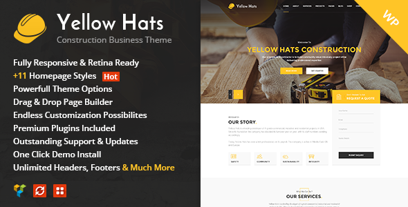 Yellow Hats – Construction, Building & Renovation Theme