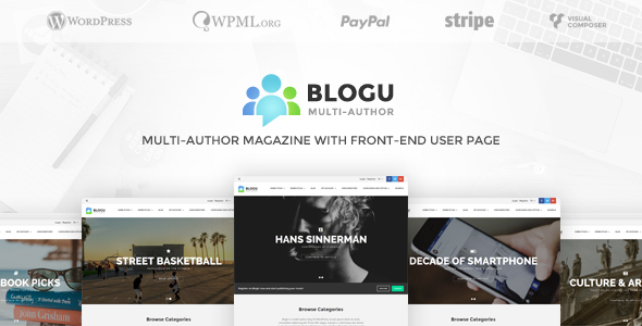 BlogU Multi-Author Magazine with Front-end User Page