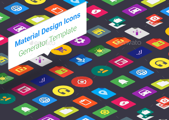 Material Design Icons Generator Template - Icons