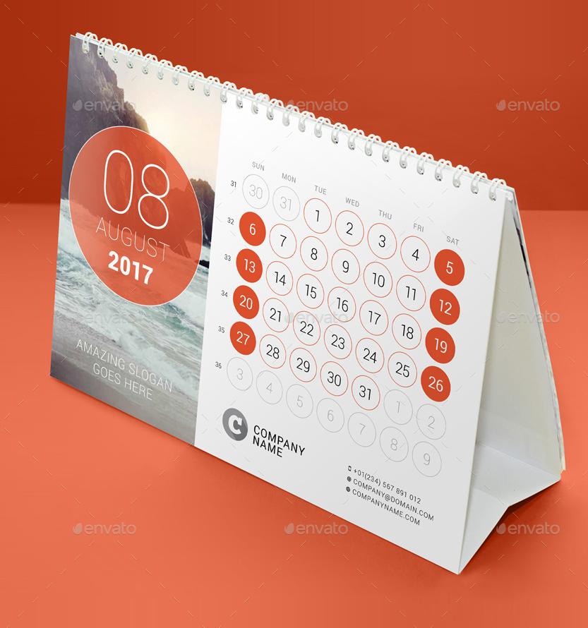 Calendar Design In Indesign : Desk calendar by mikhailmorosin graphicriver