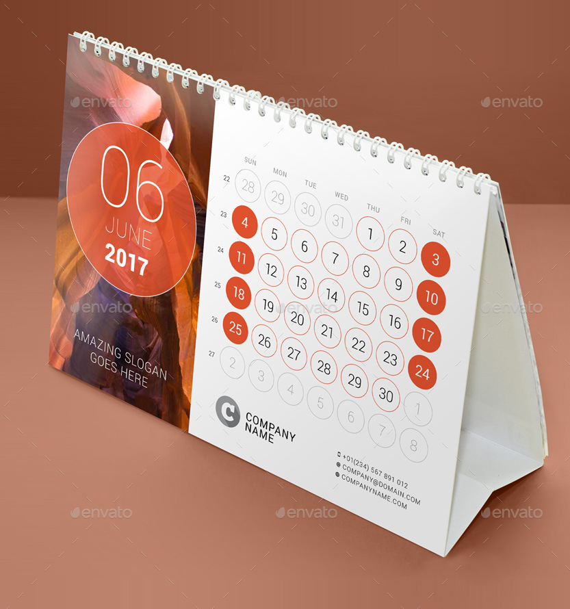Table Calendar 2016 : Desk calendar by mikhailmorosin graphicriver