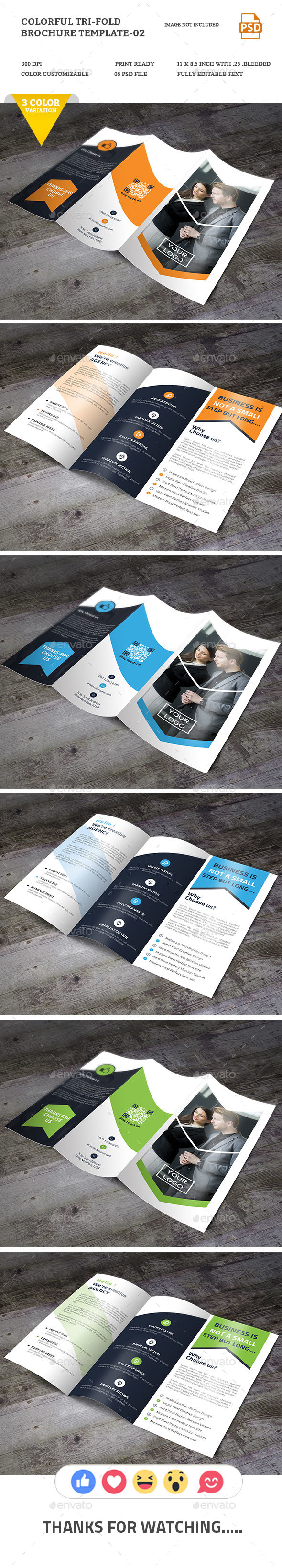 Colorful Tri-fold Brochure-02 - Brochures Print Templates