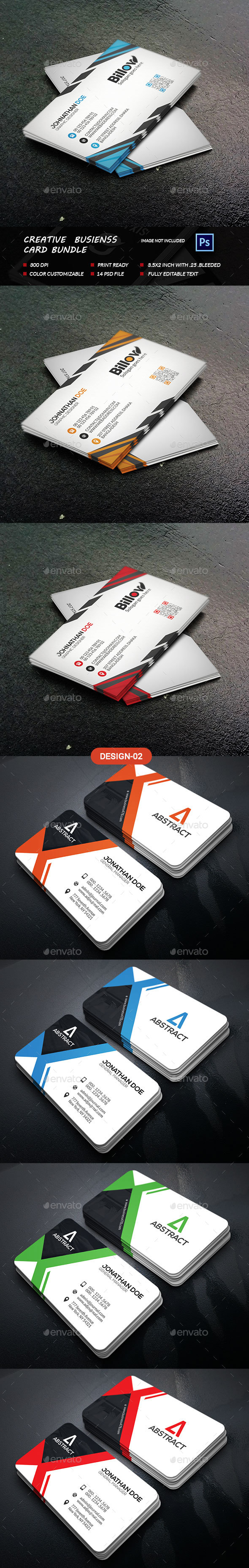 Creative Business Card Bundle - Business Cards Print Templates