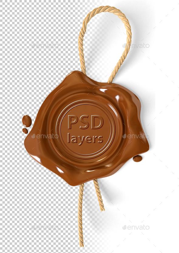 Wax Seal - Objects 3D Renders