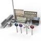 Urban Props Low-Poly Pack - 3DOcean Item for Sale