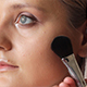 Makeup Artist Applying Blush To Cheek Of Woman - VideoHive Item for Sale