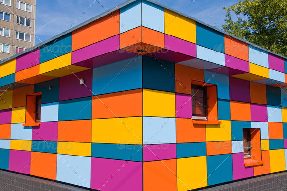 Colourful small building  - Stock Photo - Images