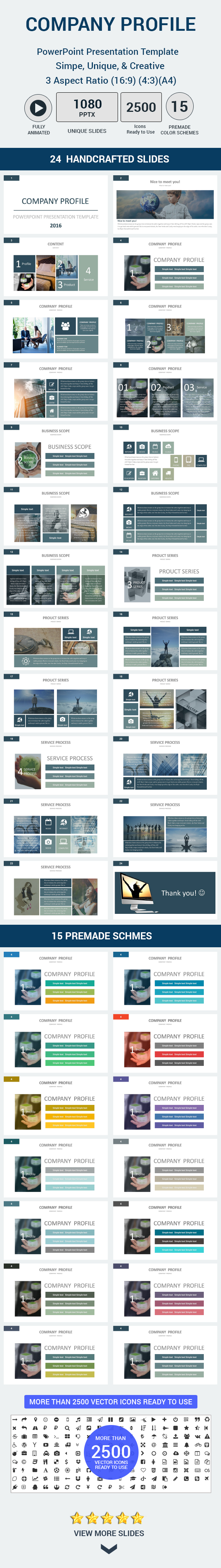Company profile powerpoint presentation template by gardeniadesign company profile powerpoint presentation template business powerpoint templates fbccfo Images