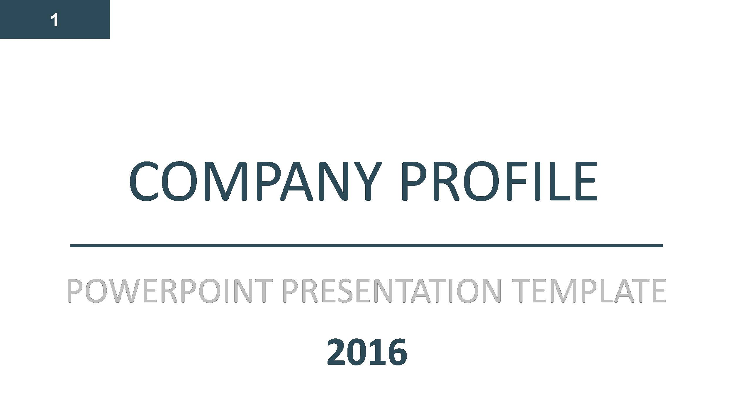 Company profile PowerPoint Presentation Template by GardeniaDesign – Template for Business Profile