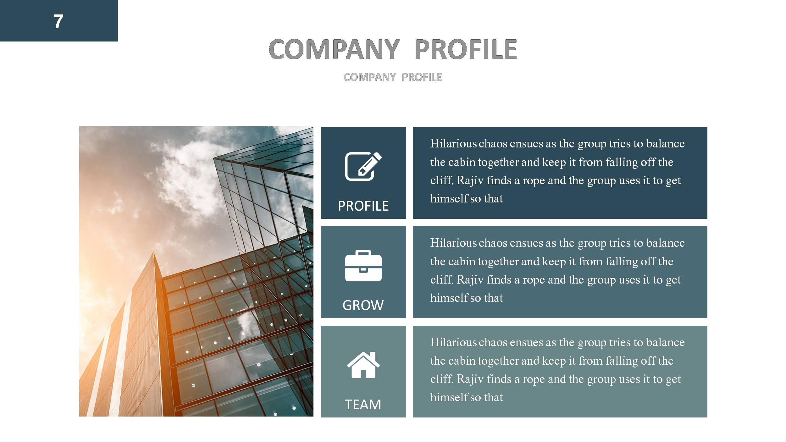 Company profile powerpoint presentation template by for How to make a company profile template