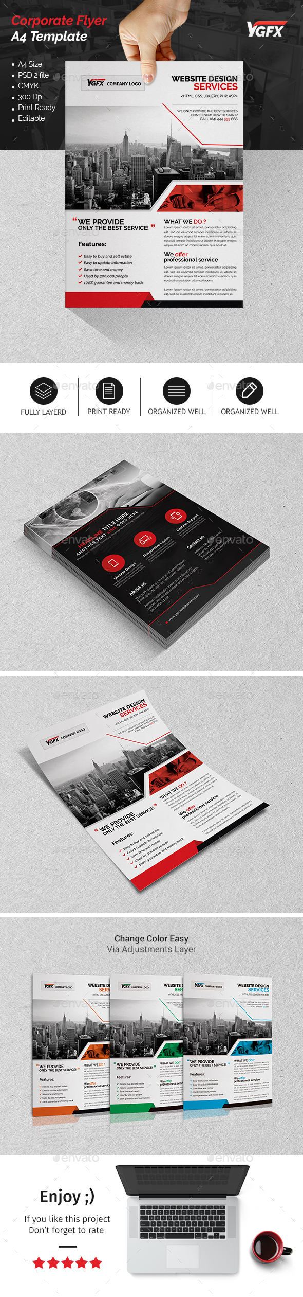 A4 Corporate Flyer 06 - Corporate Flyers