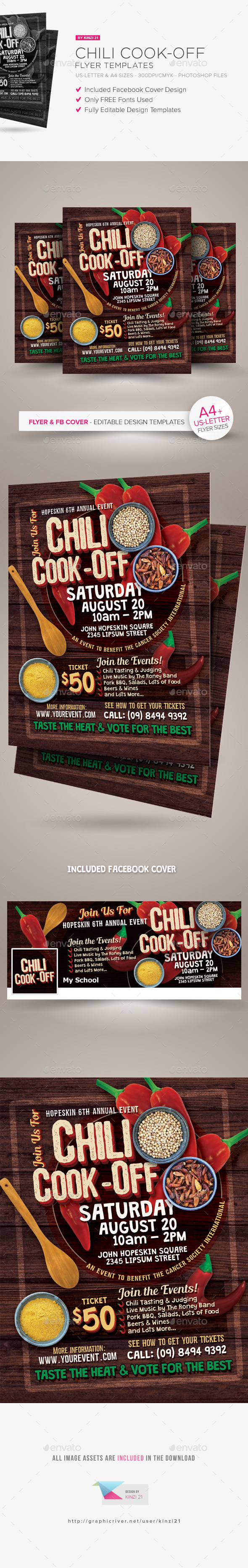 chili cook off flyer template by kinzi21 graphicriver. Black Bedroom Furniture Sets. Home Design Ideas