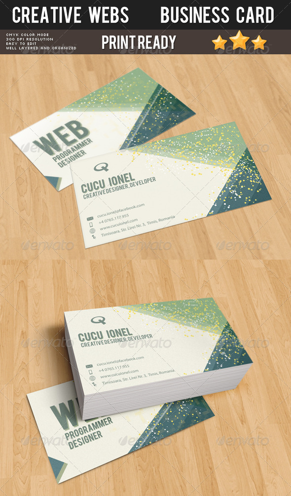 Creative Webs Business Card - Backgrounds Graphics