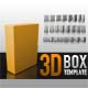 3D BOX TEMPLATE - GraphicRiver Item for Sale