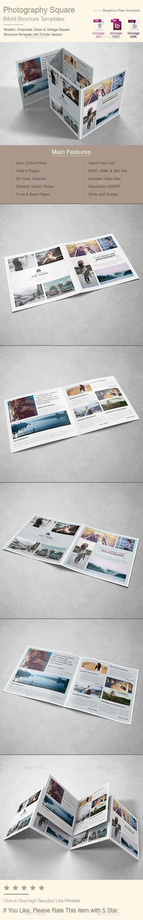Bifold Square Photography - Portfolio Brochures