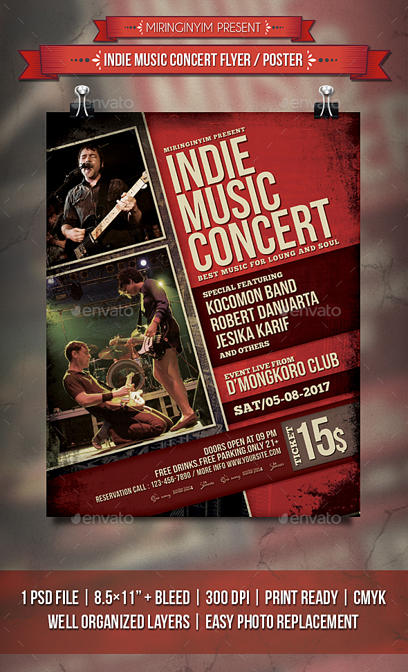 Indie Music Concert Flyer / Poster - Events Flyers