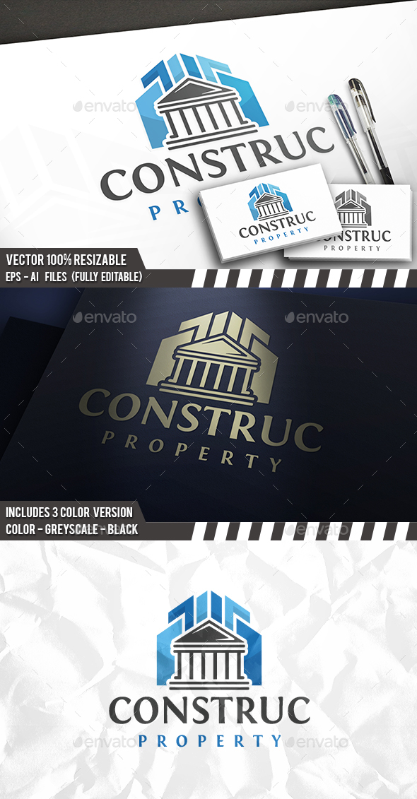 Construction Classic Logo - Buildings Logo Templates