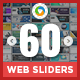Web Sliders Bundle - 10 Sets - 60 Designs - GraphicRiver Item for Sale