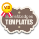 Custom Labels & badges Templates - GraphicRiver Item for Sale