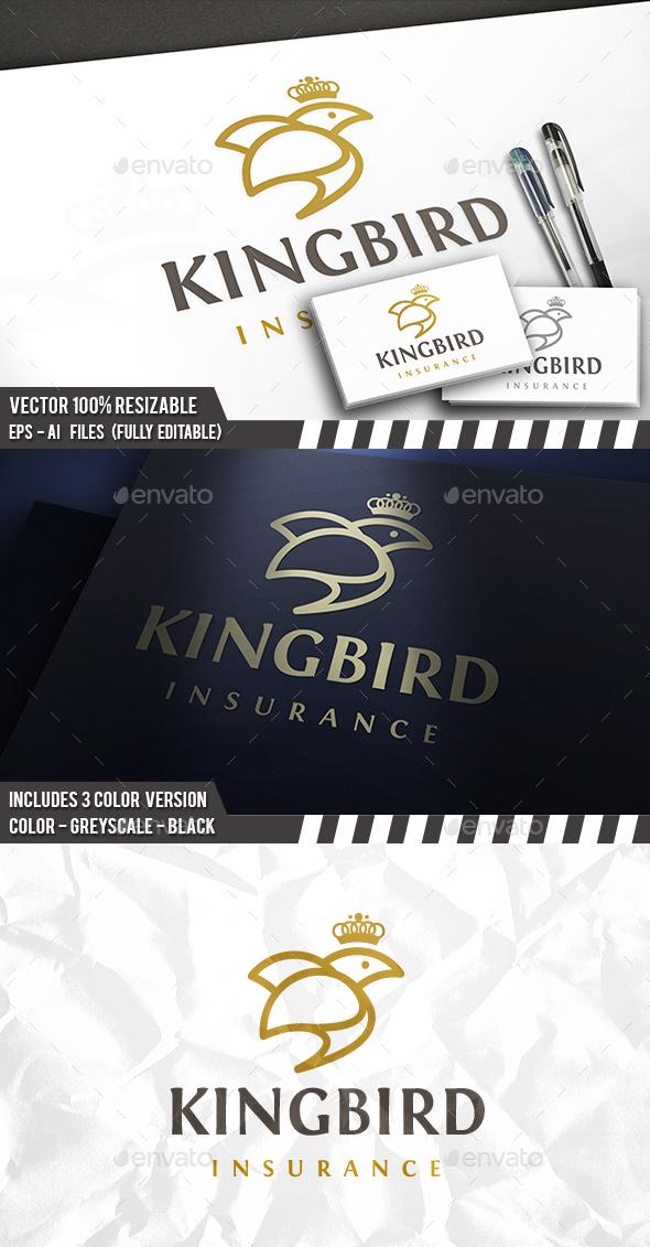 Bird King Logo - Animals Logo Templates