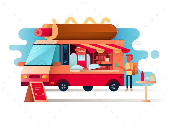 Cafe Van Hot Dogs - Miscellaneous Vectors