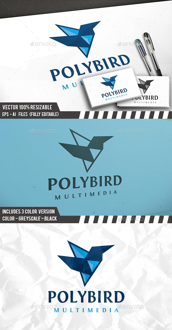 Poly Bird Logo - Animals Logo Templates