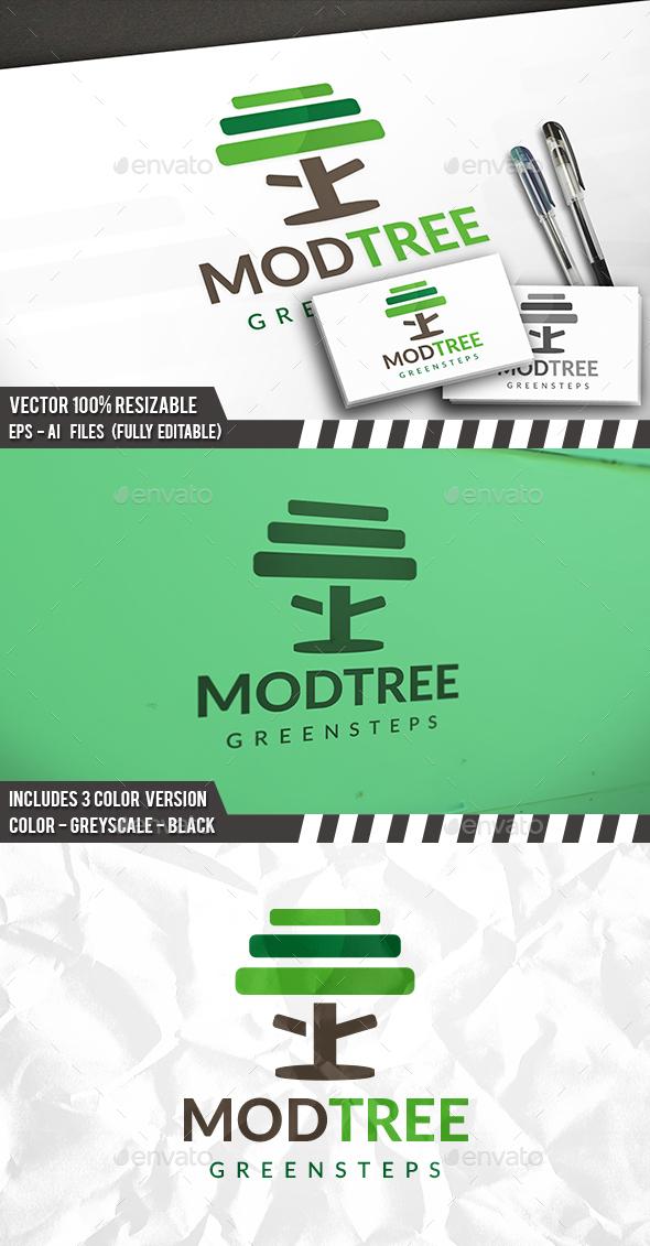 Tree Steps Logo - Nature Logo Templates