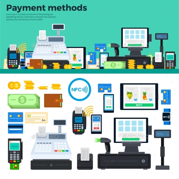 Payment Methods with Devices on the Table - Computers Technology