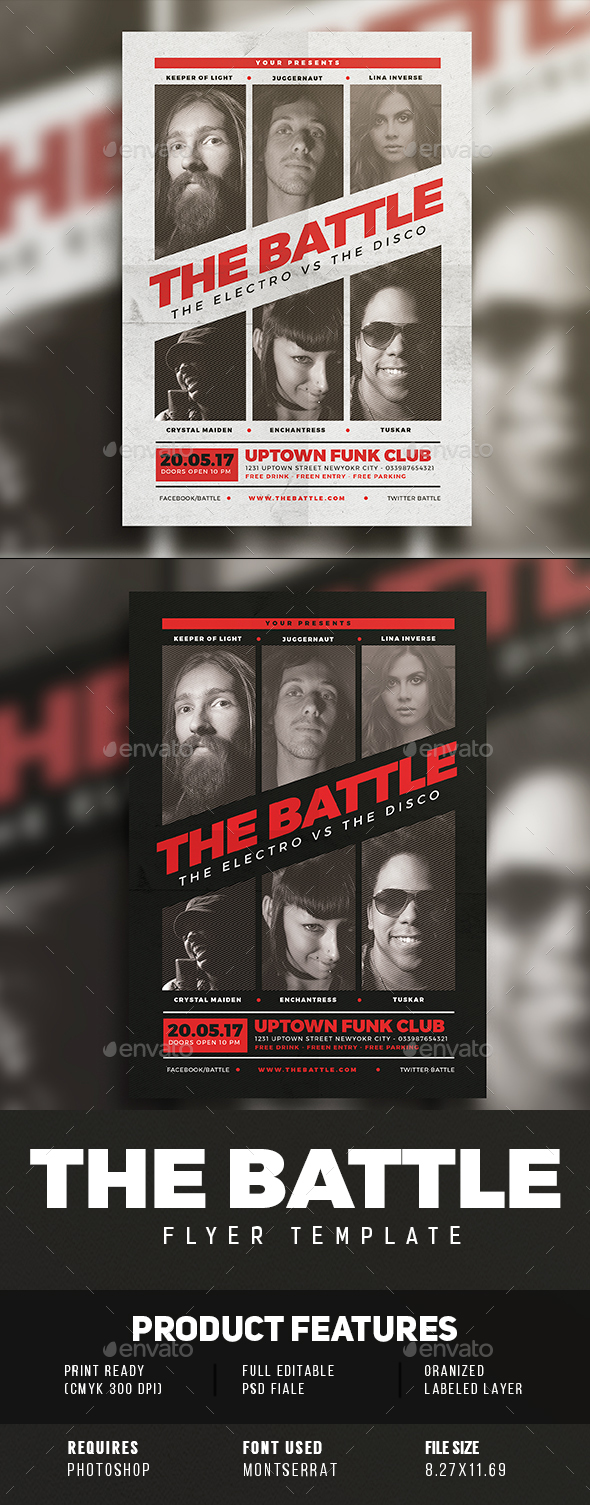 The Battle Flyer - Events Flyers